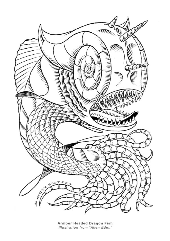Armour Headed Dragon Fish by SCAR