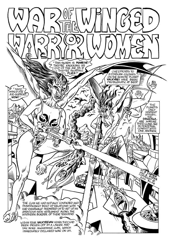 War of the Winged Warrior Women page 1